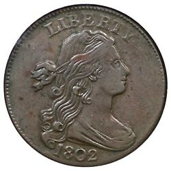 1802 S-230 Ngc Au 55 Draped Bust Large Cent Coin 1c