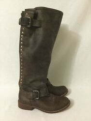 Steve Madden Lynxx Brown/red Leather Riding Boots Size 6