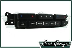 Black Heater Climate Control Switch Control Pad WK WL Statesman Caprice #4 Aces