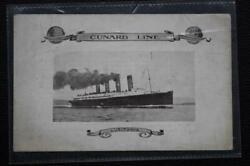 Cunard Line Rms Lusitania Souvenir Abstract Of Log L'pool To Nyc Jan 3 1914