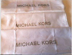 🌺🌹 3 New Mk Drawstring Dust Bag 22and039and039 X 22and039and039 White