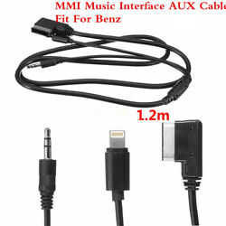 47andldquo 1.2m Mmi Music Interface Aux Cable Cord 8pin Charging For Mercedes-benz Benz