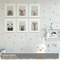 POLKA DOTS Removable Kids Vinyl Wall Decal Stickers Home Decor Room Art