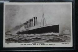 Cunard Line Rms Lusitania C-1907 Early Odin Rosenvinge Photo Artists Post Card