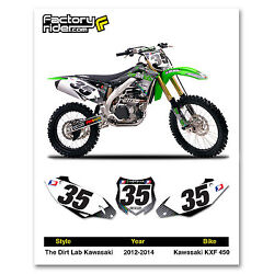 2012-2015 Kawasaki Kxf 450 The Dirt Lab Dirt Bike Graphics Custom Number Plates