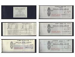 United Kingdom, Booklet Cheque,containing Different Specimen Of 21 Cheques 1961
