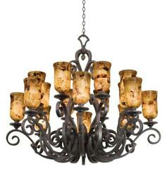 Chandeliers 16 Light Bulb Fixture W French Cream Finish E26 Type 50