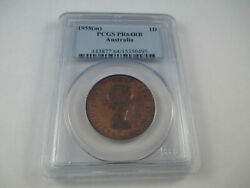1958 Melbourne Proof Penny Pcgs Graded Pr64rb. Nice Coin