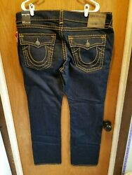 True Religion Jeans Men's Ricky Brown Flap Super T 42x34 40x33 40x34 Relaxed