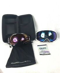 Quay Australia WHITE OUT Polarized With Low Light Lens White And Purple Lens