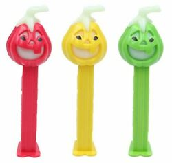 Linz Pez Convention Pumpkin Set Of 3 From 2009 - Red, Yellow And Green - Rare