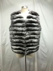 Free Shipping Brand New Real Natural Chinchilla Fur Plus Lady Vest Warm And Luxury