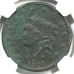 1830 N-9 R-6 Ngc Vf Details Lg Letters Matron Or Coronet Head Large Cent Coin 1c