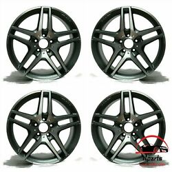 Set Of 4 Mercedes Gle-class 2016-2019 21 Factory Oem Staggered Amg Wheels Rims