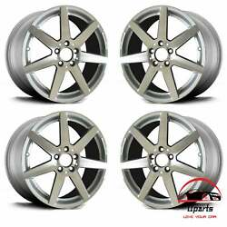 Set Of 4 Mercedes C-class 2012-2015 18 Factory Oem Staggered Amg Wheels Rims