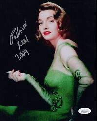 Patricia Neal Hand Signed 8x10 Color Photo   Stunning Hollywood Legend   Jsa