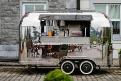 Airstream Mobile Catering Trailer Suitable Food Truck Coffee Gin Prosecco