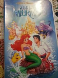 The Little Mermaid (1989 Film) Black Diamond Edition VHS with Banned Art Cover
