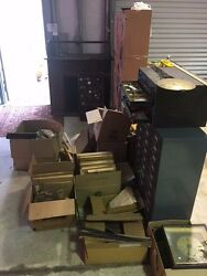 Reduced Entire Clockmakers Shop Tools Cabinets Parts Local Pickup Only Vintage