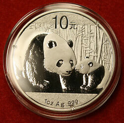 2011 Chinese Panda Design 1 Oz .999 Silver Round Bullion Collector Coin Gift