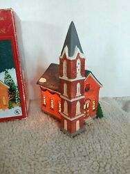 Dickens Collectables Hand Painted Porcelain Christmas Village Light Church 27206