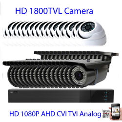 32ch All-in-1 1080p Dvr 1800tvl 24/72ir Security Camera System Dome/bullet 8ik
