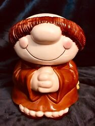 """Rare Sherman On The Mount Cookie Jar 1983 750 Book Listed Value 9"""" High"""