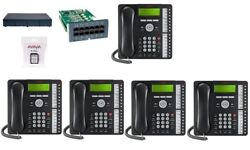 Avaya Ip Office 500 V2 Ipo500 9.0 4 Line 5 Phone System 1416 Essential Combo