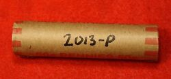 2013-p Lincoln Shield Cent Penny 50 Coin Roll Red Bu Collector Gift