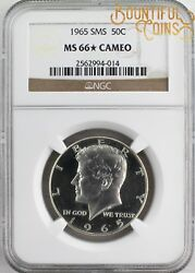 1965 Ngc Sms Ms 66 Star Cameo 50c Special Mint Set Kennedy Half Dollar L61