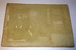 Antique Victorian Occupational Plumber, Sign / Bag Advertising Cabinet Photo