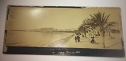 Rare Antique Victorian Famous French Beach Resort Panorama Shops Cabinet Photo
