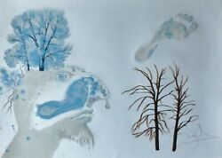 Salvador Dali The Four Seasons - Winter Hand Signed Numbered 1972 Lithograph