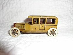 Antique George Fischer Tin Penny Car Toy With Driver, Germany