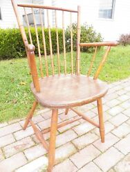 Antique Windsor Arm Chair Bamboo Turning Nice Adult Size