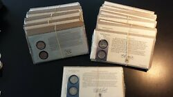 Complete 1999-2009 Quarters Statehood And Territories First Day Covers Lot Of 56