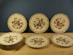 Set Of 12 Antique Johnson Brothers Pareek Fantasio Luncheon Plates - 9 Wide