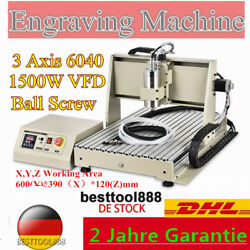 3 Axis 6040 Carving Engraver 1500W VFD  Spindle Motor Engraving Mill Machine