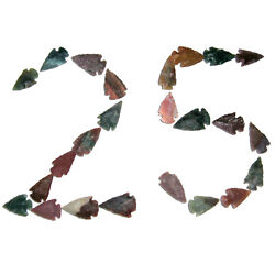 Lot Of 25 Arrowheads Authentic Hand Crafted Stone Arrow Heads Randomly Picked