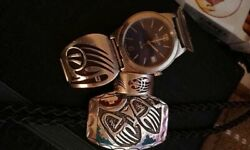 Exquisite Spirit Bear/badger Native American Hopi Handcrafted Watch/ring/bolo