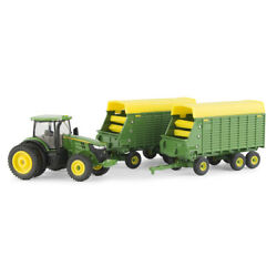 John Deere 1/64 7290r With Forage Wagons-lp70546
