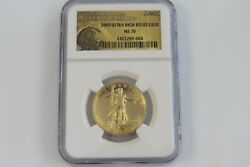 2009 Ultra High Relief Gold Double Eagle MS-70 NGC with issue box