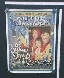 Vintage Le Grand David Spectacular Magic Company Poster Playbill Hunter College