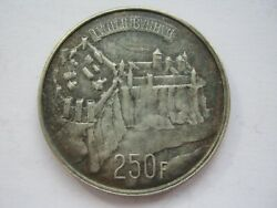 Luxembourg 1963 Silver 250 Francs Mint Darkened Finish A Unc