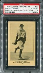 1917 Collins - Mccarthy 33 Fred Coumbe Indians Psa 6 31796804