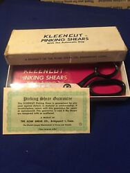 Vintage Acme Shear Co. Usa Kleencut Pinking Shears With Automatic Stop