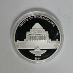 Shrine Of Remembrance 175th Anniversary Of Melbourne Proof Medal Me14d4