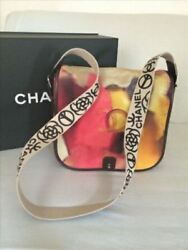 Chanel Limited Pink Multicolor Suede Flower Messenger Shoulder Bag Rare Design
