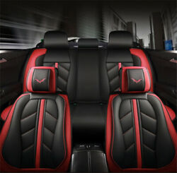 Luxury Deluxe Edition Sport Style Full Seat PU Leather Car Seat Cover Cushion 6D