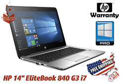 HP Elitebook 840 G3 -CORE I7-6600U- 2.6 GHz -RAM 8GB - 256GB SSD WINDOWS 10 Pro